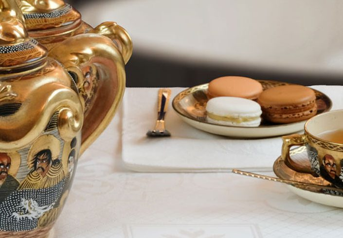 Afternoon tea with French Macarons