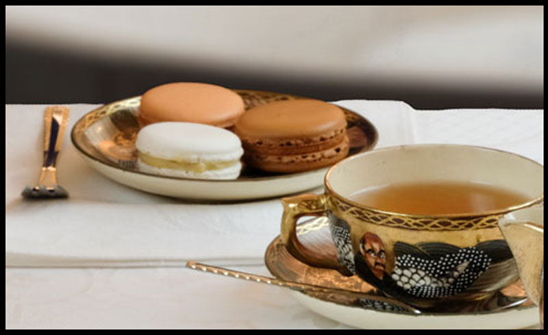 Afternoon tea and French MAcarons
