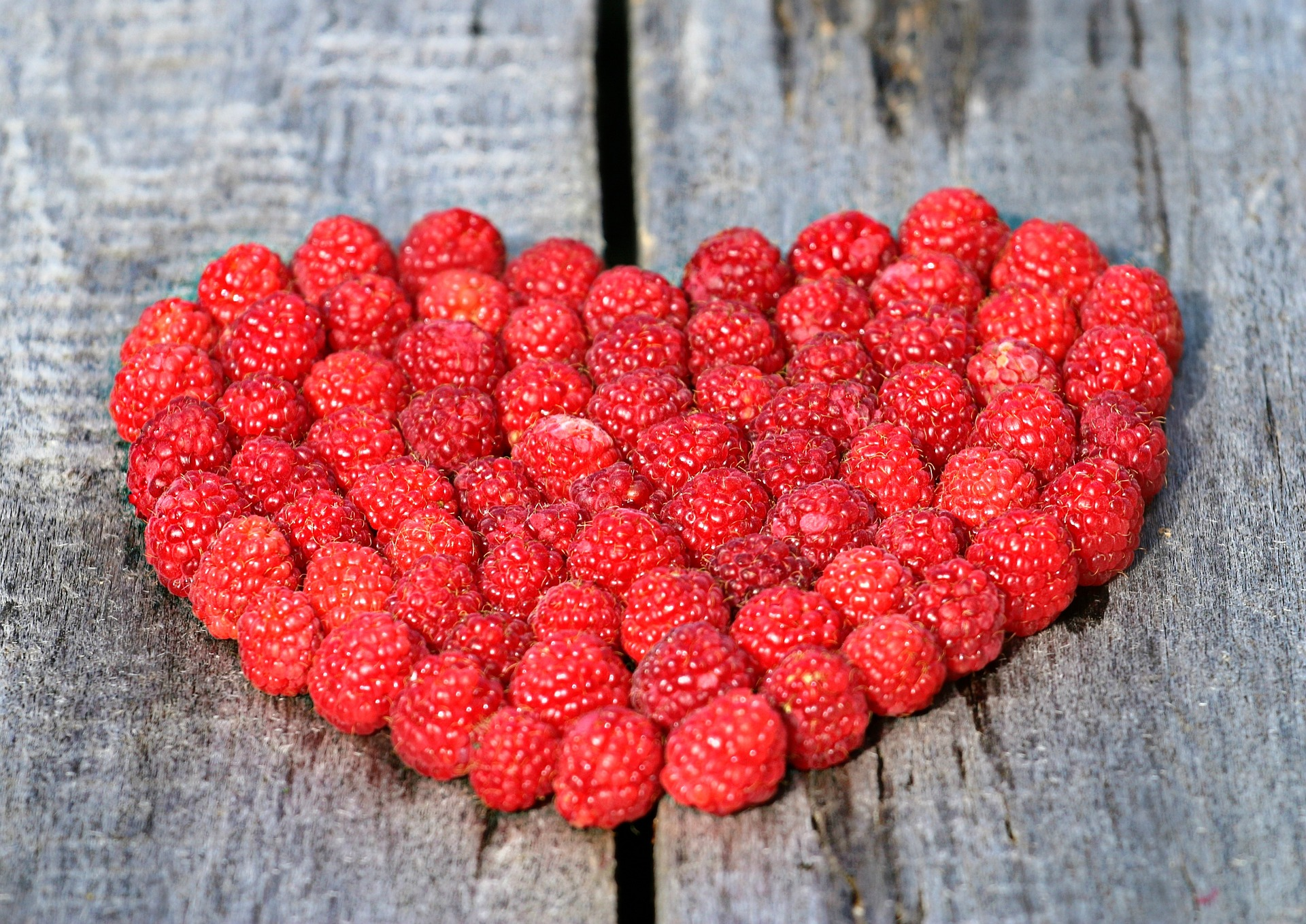 Raspberries Heart
