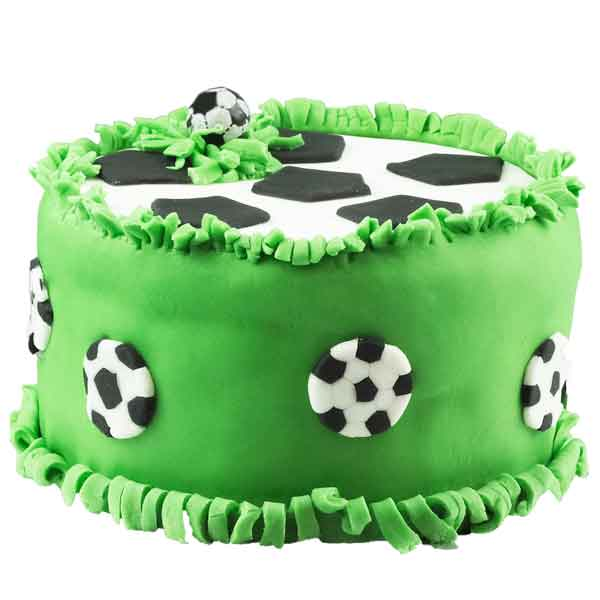 Surprise football pinata cake