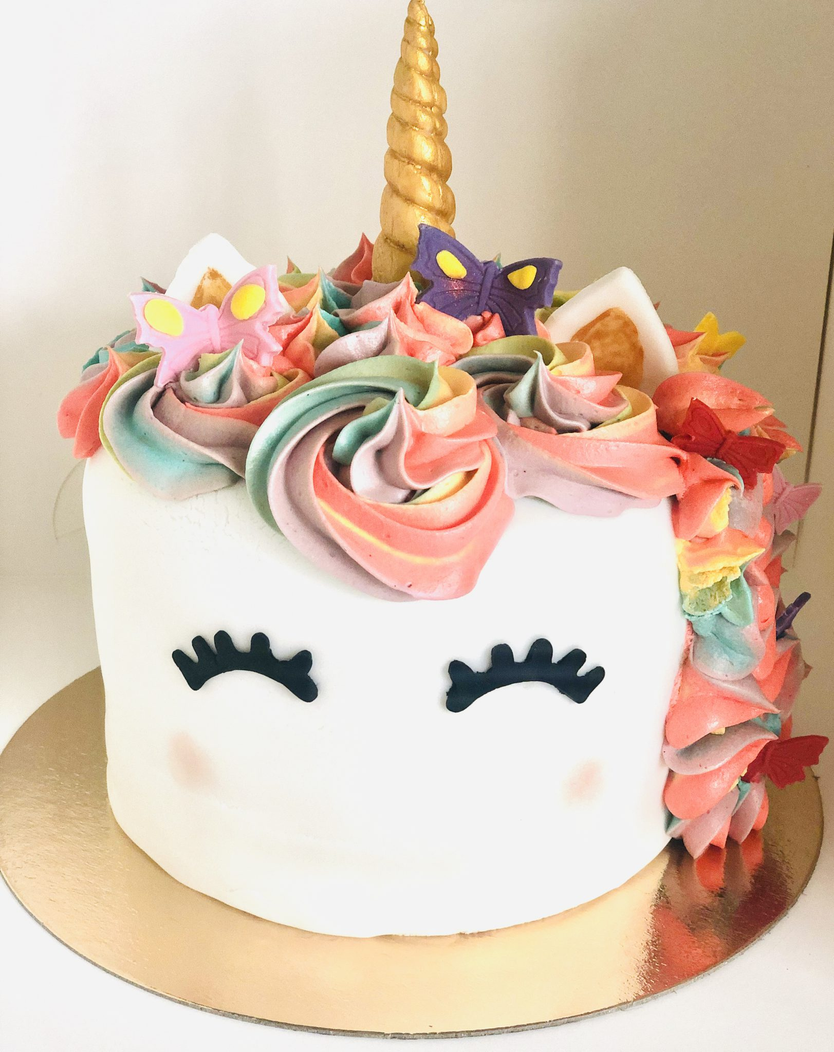 Marvelous Unicorn Rainbow Birthday Cake 8 Inches Birthday Cakes French Personalised Birthday Cards Rectzonderlifede