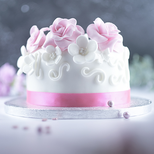 Pretty and pink birthday cake