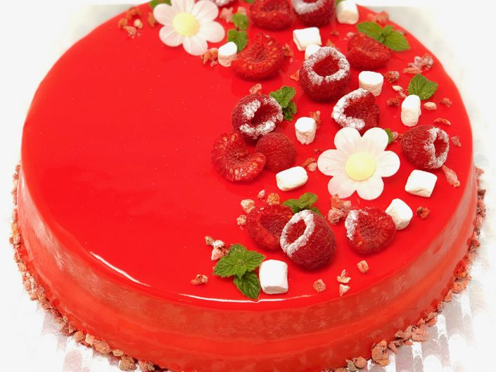 Christmas Lemon Strawberry Entremet