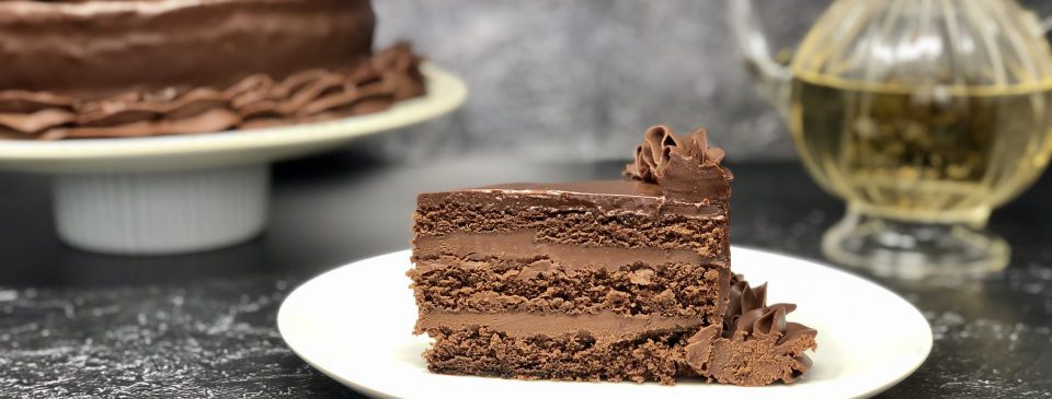 Queen Chocolate Cake slice